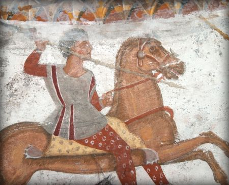 Fresco of Rider in Thracian Tomb - IV century B.C.